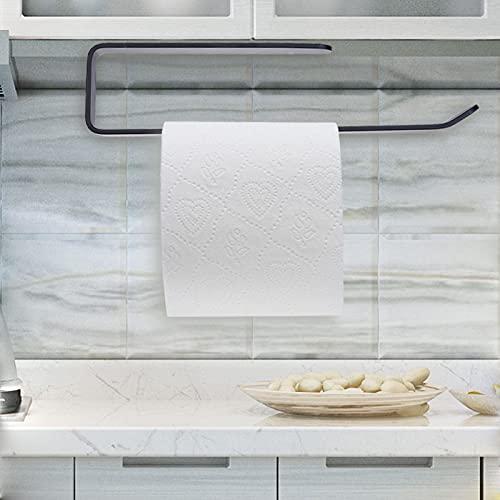 ENCOFT Küchenrollenhalter ohne Bohren, Küchenpapierhalter Wandmontage, Papierrollenhalter aus Aluminium, Küchenrollenspender Küchenrollen Halter Aufbewahrung Organisator