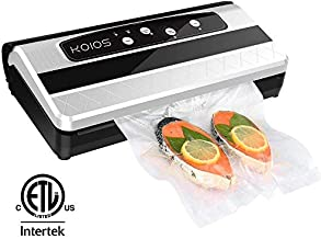 KOIOS Enhanced +80% Strength Vacuum Sealer, Roll Storage & One-shoot Cutter Bar, 16L/Min Automatic Vacuum Sealing for Food Preservation for Sous Vide Cooking Roll of Vacuum Bags