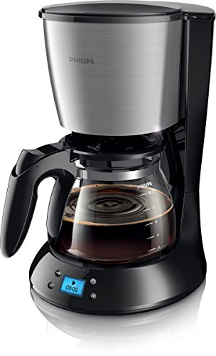Philips HD7459/20 New Daily Kaffeemaschine, 1,000 W, Glaskanne, schwarz