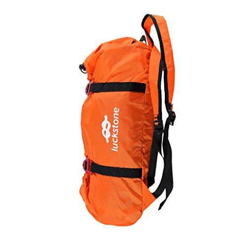 MagiDeal Sac à Dos pour Corde d'escalade Boucle Réglable Sac Pliable Confortable Camping - Orange, Taille Unique