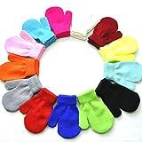 Goosuny 4 Paar Toddler Stretch Vollfinger Handschuhe Strickhandschuhe Winter Warm Gestrickte Unisex Kinder Handschuhe 1-5 Jahre Baby Jungen Mädchen Thermische Strickten Handschuhe für Draußen