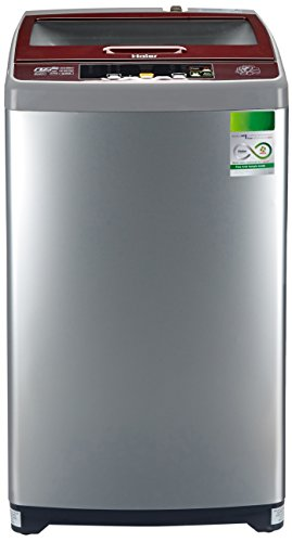 Haier 6.5 kg Fully-Automatic Top Loading Washing Machine (HWM65-707NZP, Silver Grey)