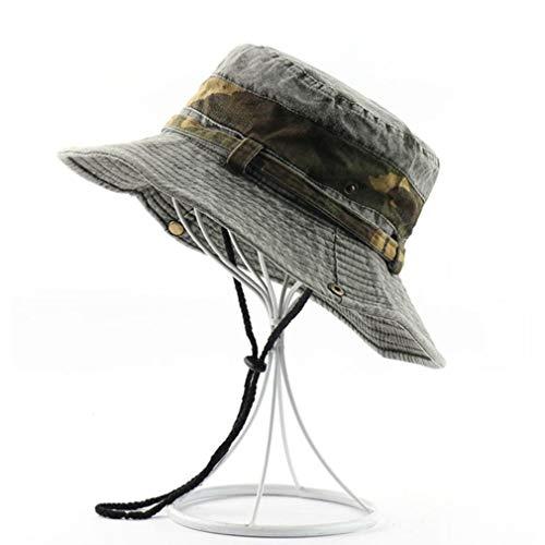 VooZuGn Unisex Adulto UPF 50+ Sombrero De Sol Al Aire Libre Plegable Secado Rápido Transpirable Multiusos para El Gorro Pescador Anti-UV El Verano Hat Hombre Mujer Womens Vaquero