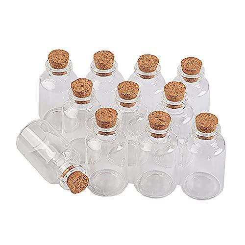 BAWAQAF Bottiglie di vetro, 12 bottiglie di stella che desiderano, bottiglia decorativa fai da te, piccoli vasetti di vetro per feste di nozze