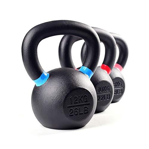 Kettlebell HUAHUA Pure Ferro, Fitness Bodybuilding Forza Attrezzatura di Addestramento, 4 kg, 6 kg, 8 kg, 10kg, 12kg, 14kg, 16kg, 18kg, 20kg, 24kg, 28kg (Size : 4kg)