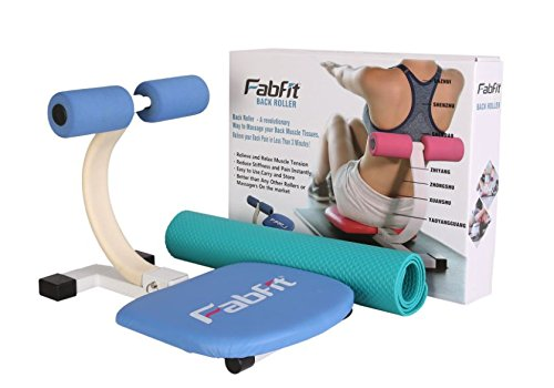 FabFit Core Roller - Total Core and Abdominal Workout with Body/Back Massager Crunch Trainer Ab Machine