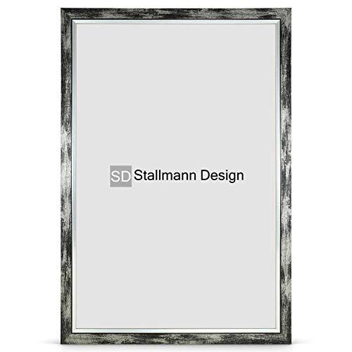 Stallmann Design Bilderrahmen My Frames 50x75 cm schwarz gewischt Rahmen Fuer Dina 4 und 60 andere Formate Fotorahmen Wechselrahmen aus Holz MDF mehrere Farben wählbar Frame für Foto oder Bilder