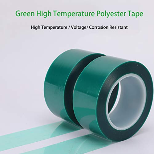 """APT,2 Mil Polyester Tape with Silicone Adhesive, PET Tape, high Temperature Tape, 3.5 mil Thickness, Powder Coating, E-Coating (1, 0.5"""" x 72Yds) Photo #5"""