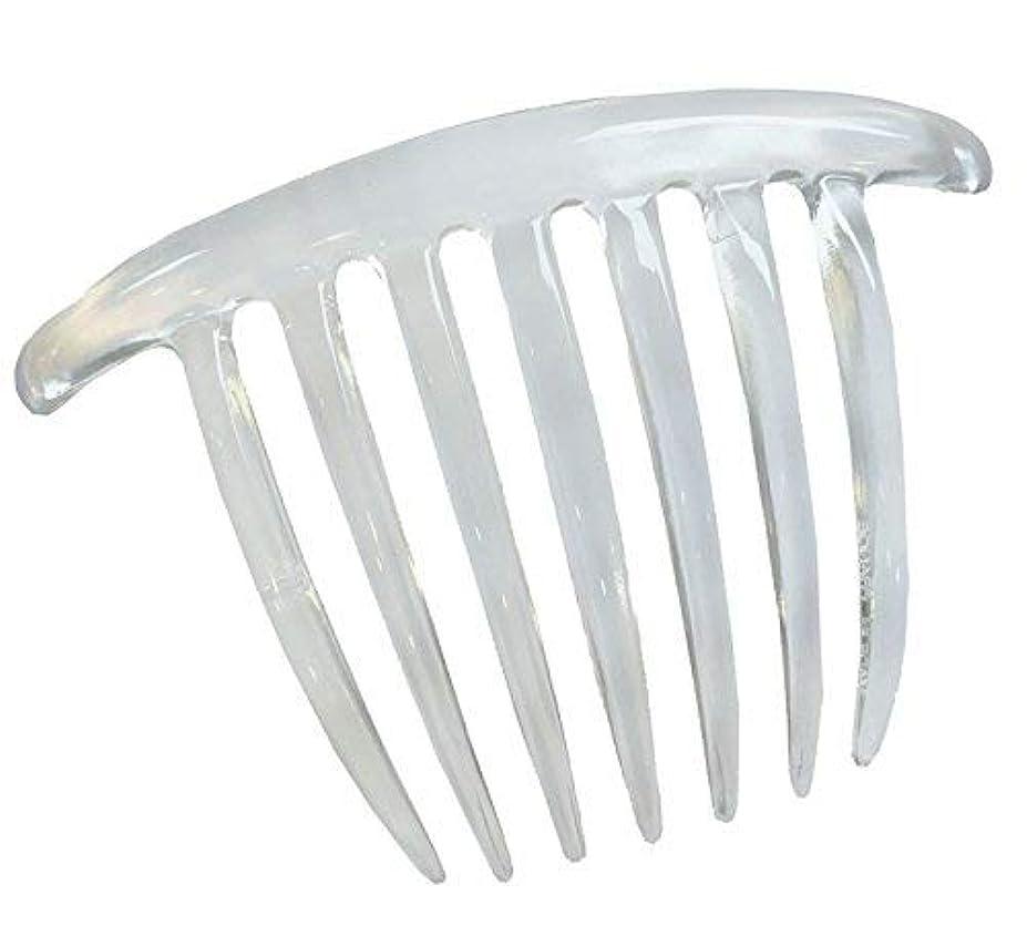 ゲージバング抜け目のないParcelona French Twist 7 Teeths Large Celluloid Clear Hair Side Comb (Clear) [並行輸入品]