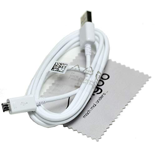Ladekabel für Original Samsung Datenkabel für Samsung Galaxy S7, S7 Edge, Galaxy S6, S6 Edge, Tab 4, Tab A, Tab E, Tab S, Tab S2 Datenkabel USB Micro USB 1,5m mit mungoo Displayputztuch