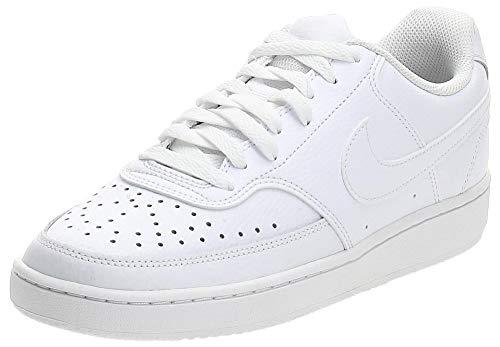 Nike Court Vision Low, Sneaker Mujer, White/White-White, 39 EU