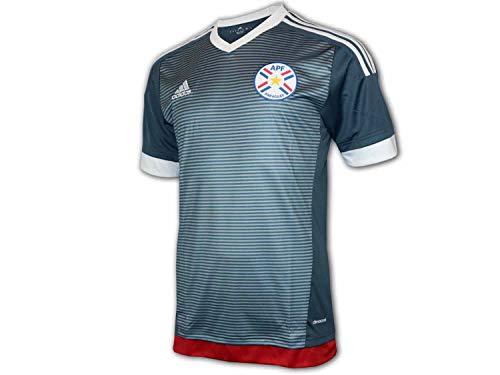 adidas Paraguay Away Shirt 15/16 grau APF Auswärts Trikot Fan Jersey WM Fußball, Größe:L