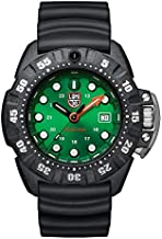 Luminox Men's Wrist Watch Scott Cassell Deep Dive 1550: 45mm Green Display Carbonox Case 300 M Water Resistant
