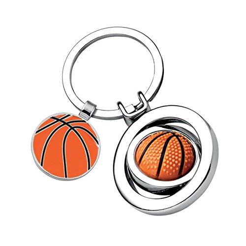 Amikado Porte-clés Ballon de Basket personnalisé par Gravure Laser