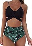 CheChury Mujer Conjunto De Bikini Tiras Talle Alto Tallas Grandes Sexy Traje De Baño Cuello Halter V...