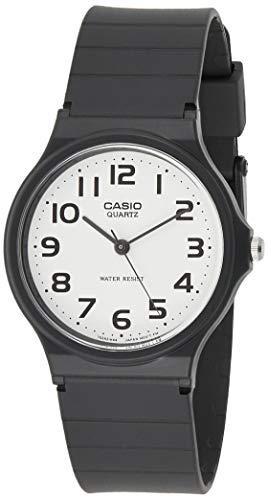 CASIO 2729 MQ-24-7B - Reloj Caballero Cuarzo Correa Caucho Negro dial Blanco