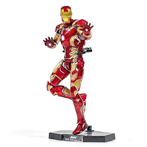 Byx HF Titan Heroes Iron Man - Actie, Avengers handgemaakte model MK43 met gloed en ondersteuning standaard (hoog 11,8 in