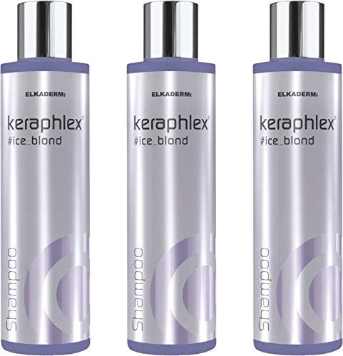 Keraphlex Ice Blond Shampoo 3x200 ml