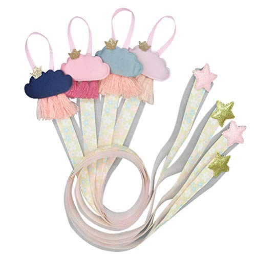 Lurrose 6pcs Correas de almacenamiento de horquillas lindas Pinzas para el cabello Pinzas para el cabello Percha de cabello Horquilla de almacenamiento Gota para niñas
