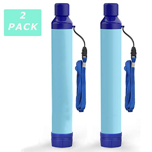 Kerrogee Portable Water Filter Straw,396 Gallon Filtration Capacity,0.01 Micron Filtration Accuracy Survival Water Filter,Easy Carry for Camping,Backpacking