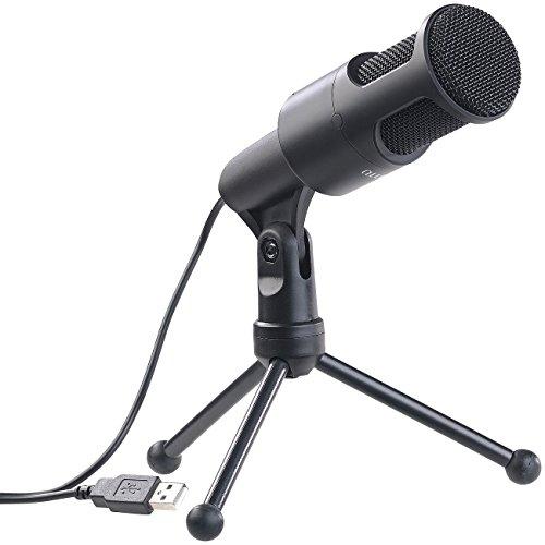 auvisio Micro: Profi-USB-Kondensator-Mikrofon, High-Performance, Mini-Stativ (PC Mikrofon)