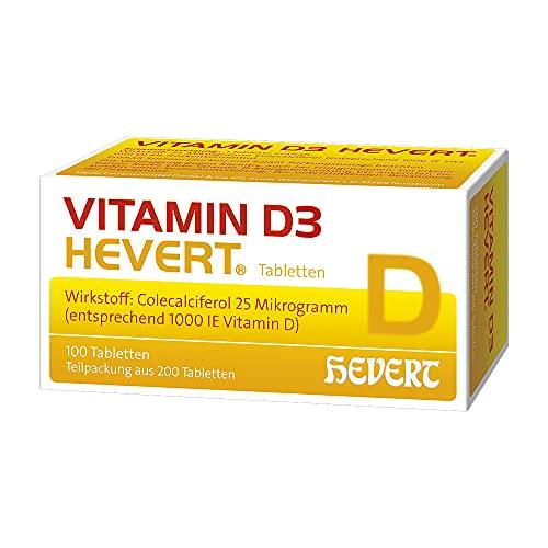 Vitamin D3 Hevert 1000 I.E. Tabletten, 200 St. Tabletten