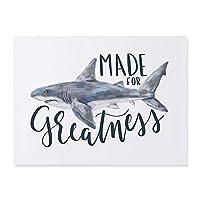 """ウォールアートホオジロザメ魚海動物キャンバスプリント絵画写真ポスターリビングルームの家の装飾15.7"""" x23.6""""(40x60cm)フレームレス"""