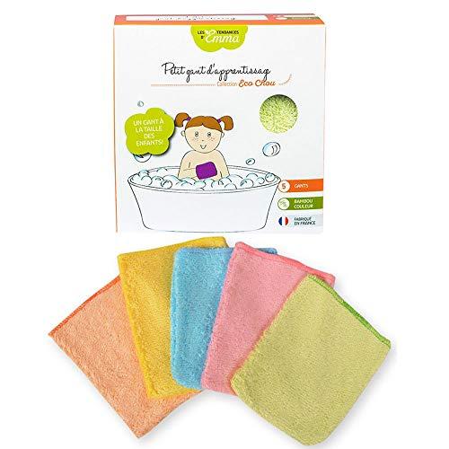 Les Tendances D Emma Lot de 5 petits gants d'apprentissage en Bambou bio