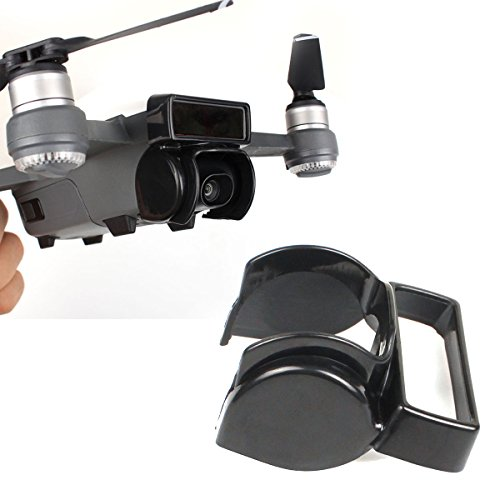 Flycoo Parasol para cámara DJI Spark Drone cámara anti-reflejo sunhood cardán protector de la cámara (Negro)