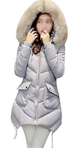 Dames Parka lange winterjas, dik, warme jas met capuchon, elegant, voor meisjes, modieus, met ritssluiting, lange mouwen, overgangsjas