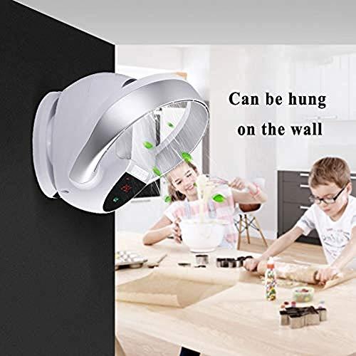 Ventilador sin aspas Control remoto Silencio Hogar montado en la pared Hoja sin viento Ventilador eléctrico Cabezal sacudidor Escritorio montado en la pared Ventilador de piso a piso-Blanco(Upgrade)