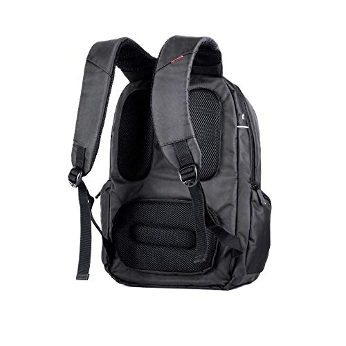 TOO BPSW009B156-USB 15.6' Laptop Backpack with USB Port for Work, School, Travel, Black