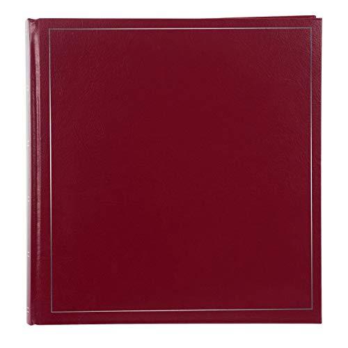 goldbuch Fotoalbum, Classic, 30 x 30 cm, 100 weiße Seiten mit Pergamin-Trennblättern, Kunstleder, Rot, 31371