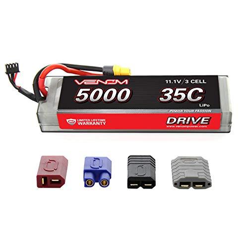 Venom 35C 3S 11.1V 5000mAh LiPo Hardcase Flat Pack Battery with Universal Plug (EC3/Deans/Traxxas/Tamiya)