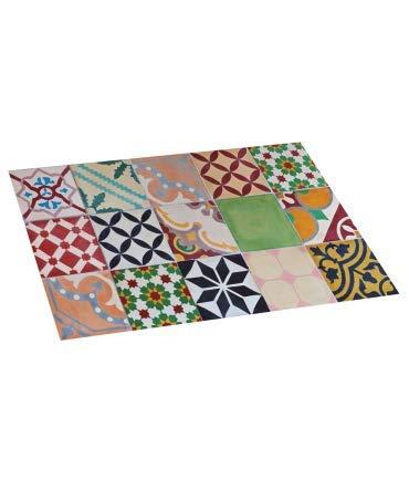 10XDIEZ Alfombra DE Vinilo Mosaico Color 45X75