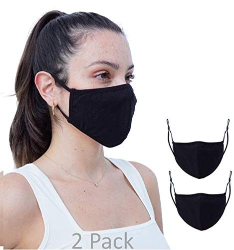 2 Pack Daily Cloth Washable Face Cover - Made in USA (One Size)