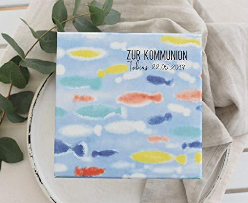 Geldgeschenk Geld Verpackung zur Kommunion/Konfirmation/zur Taufe/zur Firmung PERSONALISIERT - Swimming in Ocean