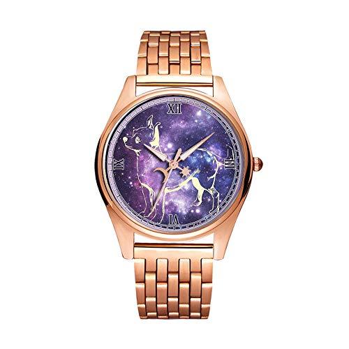 Reloj de pulsera minimalista de cuarzo de la moda dorada Elite ultra delgado impermeable reloj deportivo patrón artístico 041. Ajedrez, figuras, jugar, juego de ajedrez, King