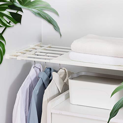 Trihedral-X Intrekbare Closet Organizer Plank Verstelbare Keukenkast Opberghouder Kast Rekkast Organizer Badkamer Plank
