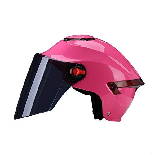 DJL Helm Motorfiets Mannen En Vrouwen Elektrische Auto Universele Zomer Halfgedekte Lichtgewicht Halve Helm Vier Seizoenen Zonnescherm Helm Achterlichten DJLSF