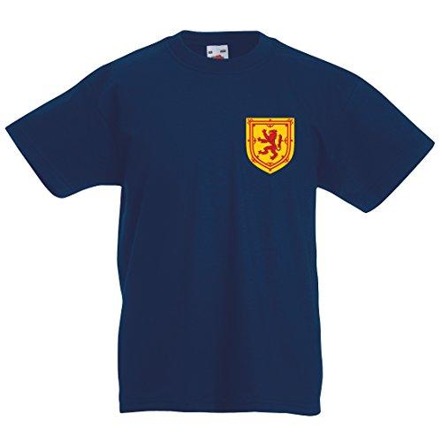 Print Me A Shirt Camiseta Escocia escocés Personalizada Retro Personalizable para niños - fútbol