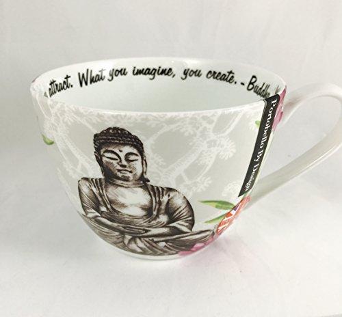 What You Imagine, You Create -- Buddha Mug by Portobello By Design