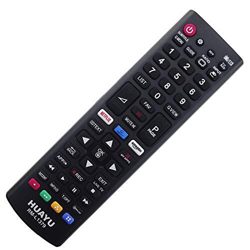 Mando a Distancia de Repuesto Adecuado para LG Smart TV LED 43LH590V 43LH570VAEU con Conexión PreProgramada Uno a Uno - Función de Arranque Fácil - sin Instalación Molesta