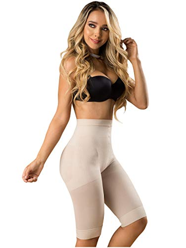 LT.ROSE 21995 Butt Lifter Capri Thigh Slimmer Shapewear Slimwear Tummy Control Shaper for Women Fajas Colombianas Levanta Cola para Mujer Beige M