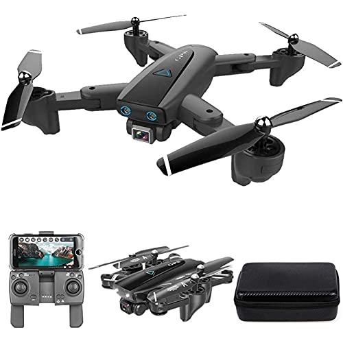 DCLINA GPS Drone 2.4G WiFi FPVDrone con Fotocamera 4K HD Gesto Foto Video Ritorno Automatico a casa Mantenimento dell'altitudine Seguimi per Adulti con Borsa