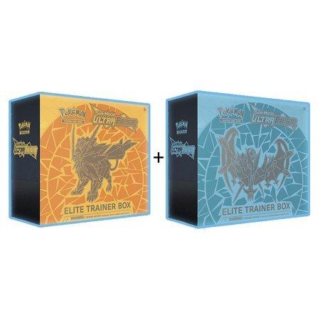 Pokemon TCG: Sun & Moon Ultra Prism, Necrozma Elite Trainer Box Combo, Both Included (Dusk Mane & Dawn Wings)