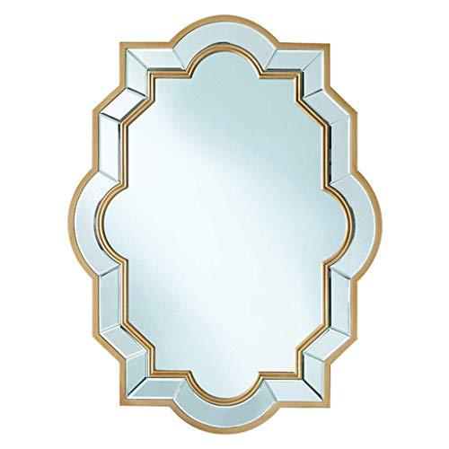 Relaxbx make-up spiegel spiegel spiegel muur kunst stickers badkamer, met de hand toegepast glas dressoir decoratieve spiegel muur gemonteerd badkamer wastafel spiegel (Maat: 60 * 80cm)