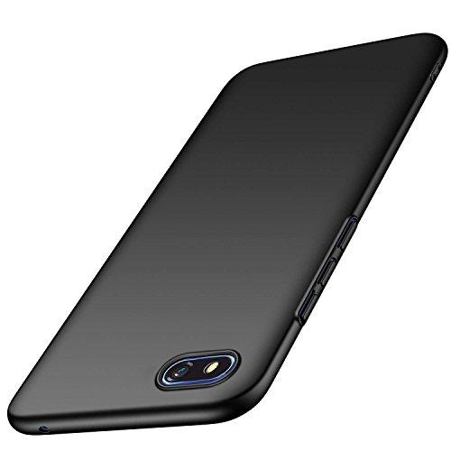 AOBOK Huawei Y5 2018 Hülle, Honor 7S Hülle, Ultra Slim Leichtgewicht Matt Schale HardCase, Anti-Scratch Schutzhülle, Stoßfest Cover HandyHülle für Huawei Y5 2018, Honor 7S Smartphone, Schwar