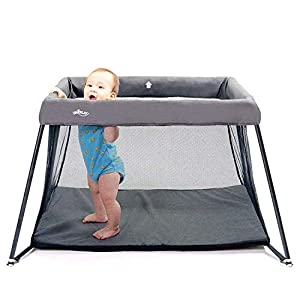 UNiPLAY Pack N' Play Portable Playard — Lightweight Baby Playpen, Travel Crib Comfortable Mattress for Babies and Toddlers (23.6×45.3×31.5 Inch)