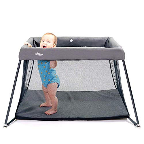 UNiPLAY Foldable Travel Crib, Lightweight Portable...